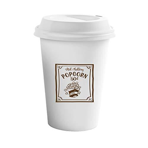 Style In Print Red Hot Buttery Popcorn 50C Pop Ceramic Coffee Tumbler Travel Mug ()
