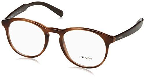 Prada PR19SV Eyeglass Frames U6J1O1-50 - Striped Brown - Men Eyeglasses Prada