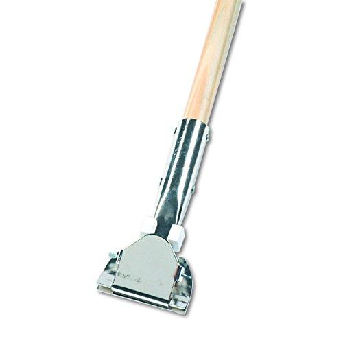 Boardwalk 1490 Clip-On Dust Mop Handle, Lacquered Wood, Swivel Head, 1