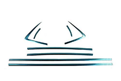 8 St/ück f/ür Buick Encore//Opel Opel Mokka 13-17 FidgetGear Stahl-Fensterverkleidung Bodenkante
