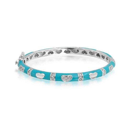 Bling Jewelry Baby Blue Enamel