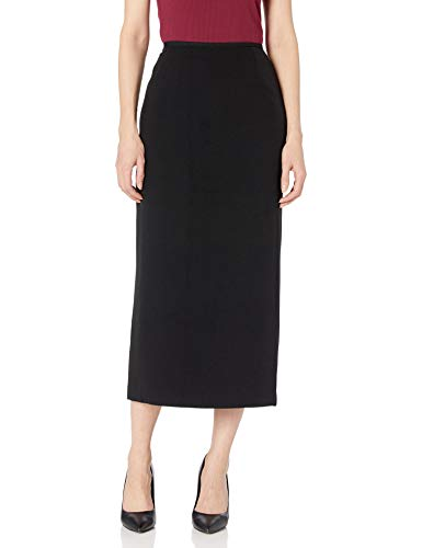 Kasper Women's Stretch Crepe Column Skirt, Black, 4