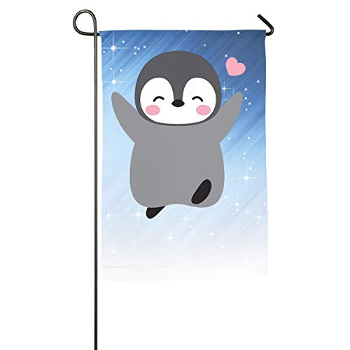 DDYJ Funny Baby Penguin Home Family Party Flag
