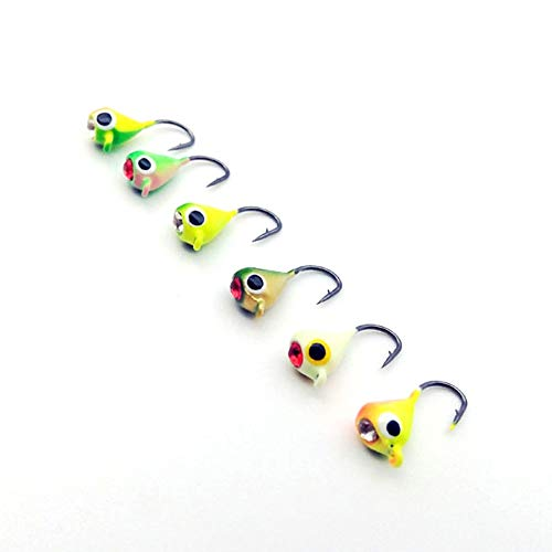 Fishing Lures - 6PCS/Lot Winter Ice Fishing Hook Lure Quality Mini Metal Bait Fish 1.5cm 1.1g Lead Head Hook Bait Jigging Fishing Tackle (Best Bait For Dolphin Fish)