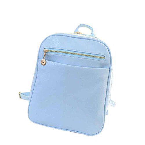 Blue Bag Satchel Fashion New Travel Rucksack Leather Light Girls TM School Women Elevin Shoulder Boys Backpack zOUZwf