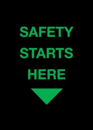 Safety Logo Entrance Mat, Black, 3ft.x5ft.