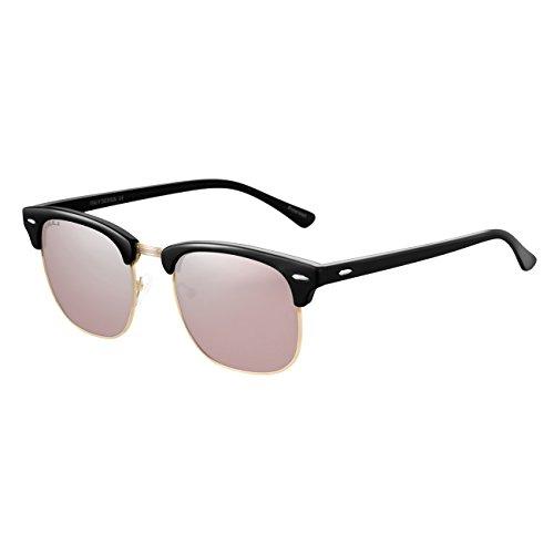 nbsp;soleil nbsp;semi sans MM nbsp;polarisé nbsp;Vintage nbsp;Womens JULI nbsp;Mens Noir nbsp;52 le nbsp;Clubmaster nbsp;lunettes nbsp;3016 de Rose nbsp;lunettes zOx0Yxq