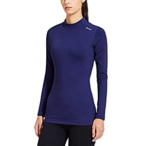 Best Epic Trends 31GxgV-ZxaL._SS300_ BALEAF Women's Fleece Thermal Mock Neck Long Sleeve Running Shirt Workout Tops