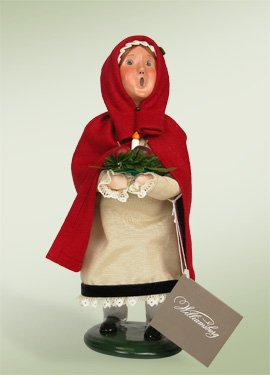 Colonial Holiday Girl Figurine by Byers' Choice
