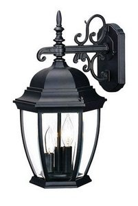 Acclaim 5032BK Wexford Collection 3-Light Wall Mount Outdoor Light Fixture, Matte Black (Collection 3 Bulbs)