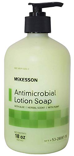 MCK Brand 80871800 Antimicrobial Soap Mckesson Lotion 18 Oz. Pump Bottle 53-28087 Box Of 1