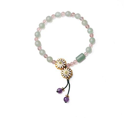 Wolegequ Main Bijoux de mode artisane bijoux pour femmes Les filles un bon ami bracelet la somme des frais de petites et simples étudiants string à la main