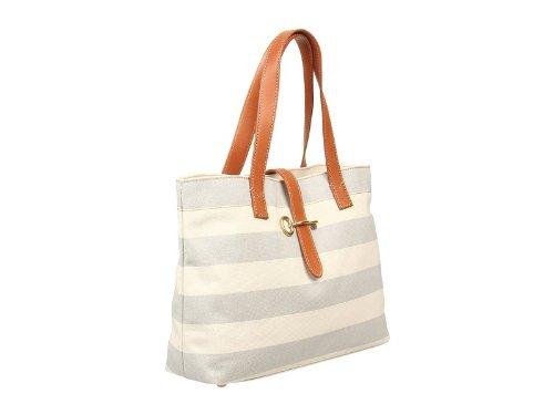 Austin Shopper Color: GREY STRIPE, Bags Central