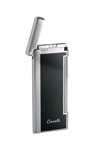 Visol Products Caseti Nox Soft Flame Flint Lighter, Black Lacquer