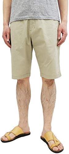 イージーショーツ K2069 綿麻 ジップフライ リラックスフィット メンズ ショートパンツ