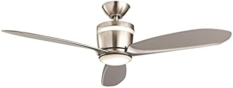 d8b13d86a55 Home Decorators Collection Federigo 48 in. LED Indoor Brushed Nickel  Ceiling Fan