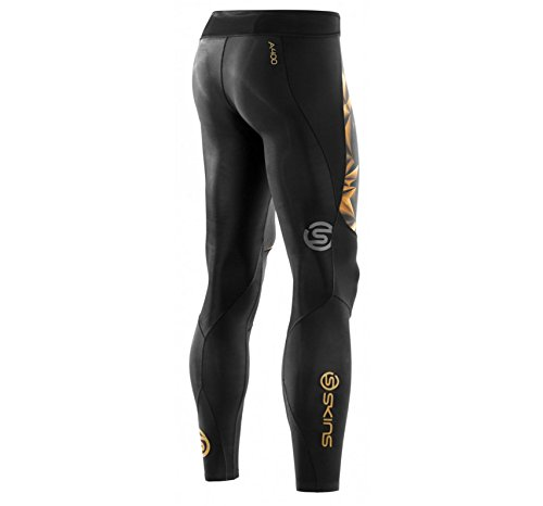 Skins Men's A400 Compression Long Tights, Black/Gold, XX-Large by Skins (Image #7)