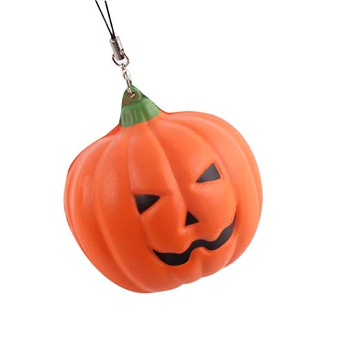 Clearance Halloween Soft Pumpkin Cartoon Squishy Slow Rising Squeeze Toy Kawaii Toys (M, -