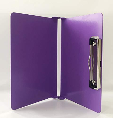 Aluminum Alloy Folding Pocket Clipboard Purple for 11