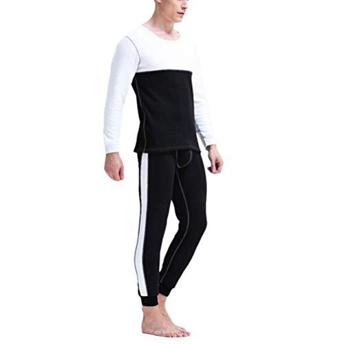 Térmica Marca Trousers Conjunto Capa Base Hombre Mode Cálido Negro Espesar Para Invierno Interior Polar Set De Ropa Forrado Algodón Top Bpvq7xF