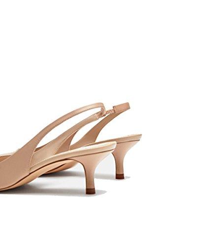À Chaussures Femme Zara En Ouvertes Cuir 2918 L Arrière 301 Talons xwwOPC5q