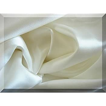 100% Mulberry Silk Charmeuse Fitted Sheet Queen White Half of Retail
