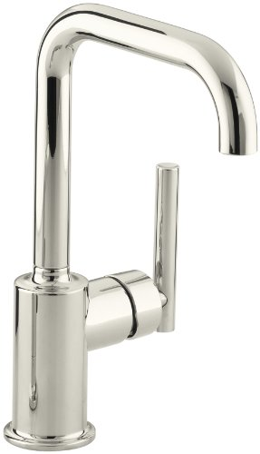 KOHLER K-7509-SN Purist Secondary Swing Spout Without Spray, Vibrant Polished Nickel