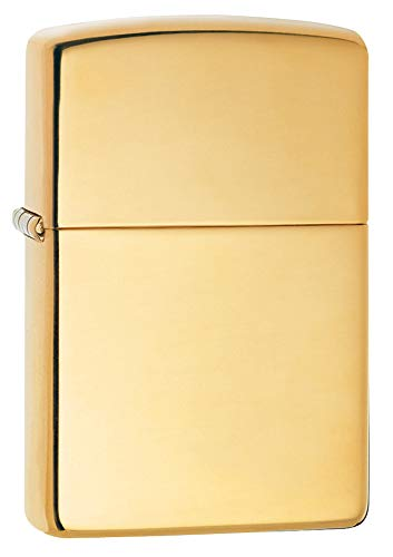 Zippo HP Brass w/ Solid Brass Engraved - 254