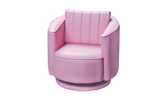 Gift Mark Upholstered Swivel Rocking Chair, Pink by Gift Mark