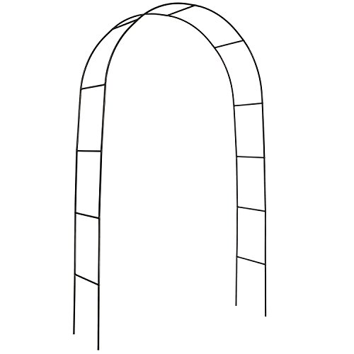 DOEWORKS Metal Black Garden Arch with Round Top, 7'9'' High x (Arches And Arbors)