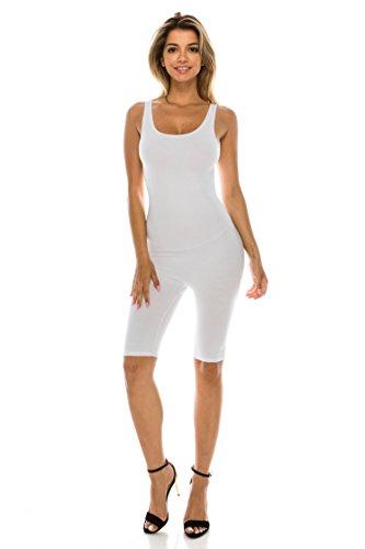 C&C Women's Sexy Sleeveless Bodycon Cotton Stretch Knee