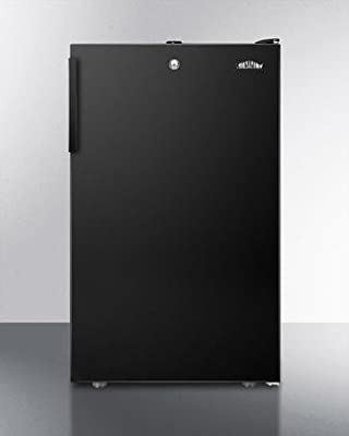 Summit FF521BL7ADA Refrigerator, Black