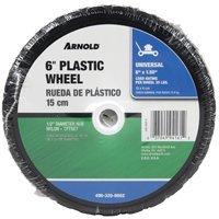 "Arnold Nylon Bearing Plastic Wheel Diamond Tread 6"" X 1.50"""
