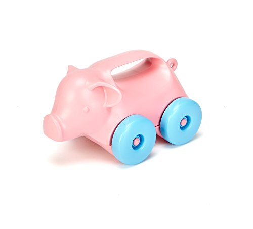 Green Toys Pig-on-Wheels (1067 Pull)