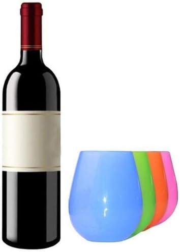 Kuke Copas de Vino Silicona FDA Plegables Potables Irrompibles ...