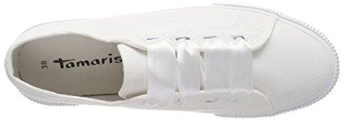 Femme Blanc white Basses Sneakers 23610 Tamaris 0qftUnHU