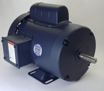 1 hp 3450 RPM 56 Frame TEFC 115/208-230V w/Overload Protection Leeson Electric Motor # 110142 by Leeson