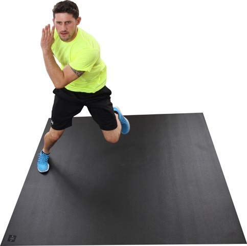 Square36 Super Large Exercise Mat 6'x6'. for Home Workouts with or Without Shoes. Perfect for Beachbody, Plyometrics, Cardio, HIIT, TAM, Aerobics & Rehabilitation.