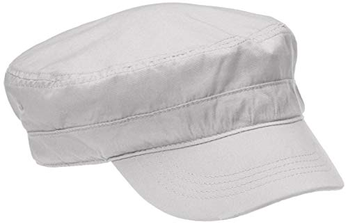 (Rebel Canyon Men's Washed Cotton Cadet Cap Grey)
