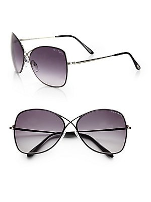 Tom Ford Colette TF 250 08C Gunmetal Grey Gradient 63mm - Tom Rimless Glasses Ford