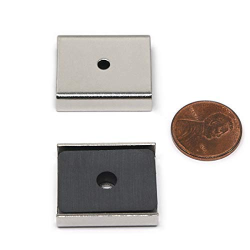 Perfect for Light Duty Cabinet Latches and DIY Projects CMS Magnetics Ceramic Latch Magnets 1 x 1 x 0.25 Inc. 8.8 Lbs Pull Force 16 Pieces