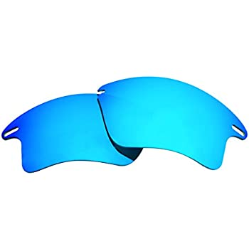 0ac61cb66cb Polarized Replacement Sunglasses Lenses for Oakley Fast Jacket XL with UV  Protection(Ice Blue Mirror)