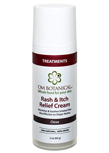 Organic Rash and Itch Relief Cream Soothes Diaper Rashes, Jock Itch, Bug Bites, Poison Ivy, Minor Cuts, Burns and Scratches. Safe Effective Remedy w/ Natural Anti-inflammatory Herbs and Zinc