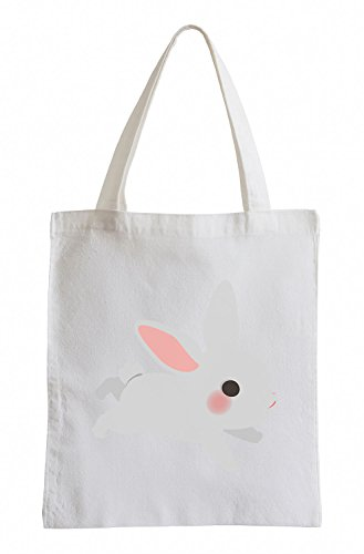 Raxxpurl White Rabbit Fun sacchetto di iuta