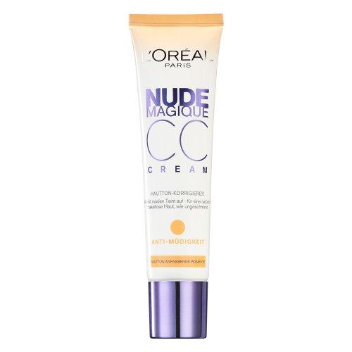 L'Oréal Paris Gesichts Make-up Nude Magique CC Cream Anti-Müdigkeit / Abdeck Makeup gegen Hautunebenheiten / 1er Pack