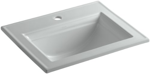 KOHLER K-2337-1-95 Memoirs Self-Rimming Bathroom Sink with Stately Design and Single-Hole Faucet Drilling, Ice Grey