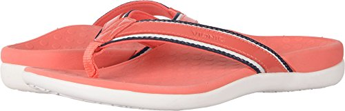 Vionic With Orthaheel Technology Women's Tide Sport Thong Sandal,Coral,US 5 M