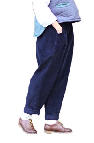Navy Corduroy Trousers - 8