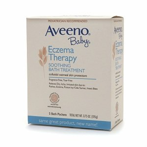 Aveeno Baby Eczema Therapy Soothing Baby Bath Treatment, Fragrance Free, 5-Count Packets