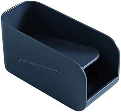 Winkey Multifunktionales Briefpapier Magnetstiftbox Briefpapierbox Desktop-Aufbewahrungsbox Kleinigkeiten Finishing Box Office Doppelregal (Blau)